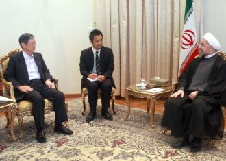 Rohani welcomes Japan's decision to expand Iran ties